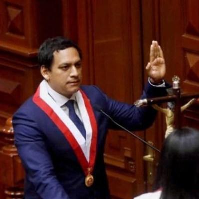 Luis Valdez, sworn in as president of the Peruvian Congress