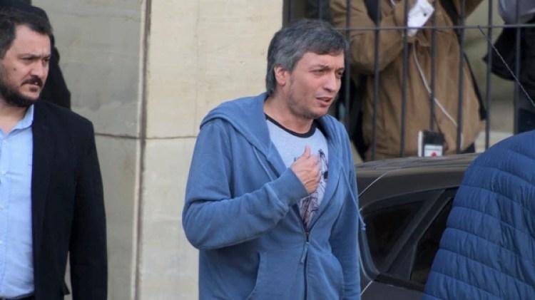 Máximo Kirchner, esta semana tras declarar en Comodoro Py. Será juzgado por un nuevo magistrado (Foto: Adrián Escandar)