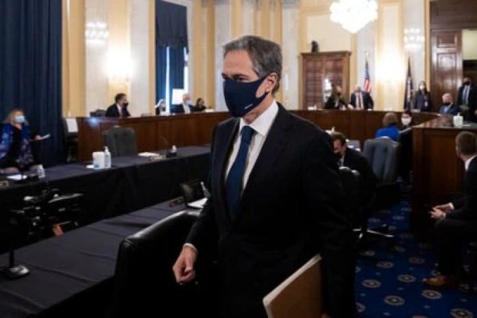 Blinken declaró ante senadores de EEUU este martes en el Capitolio en Washington DC (Graeme Jennings/Pool via REUTERS)