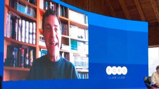 Andrés Malamud participó por videconferencia desde Portugal