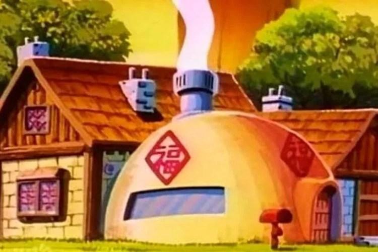 La casa de Goku en la caricatura.