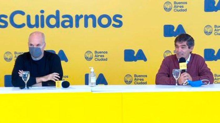 Horacio Rodríguez Larreta y Fernan Quiros