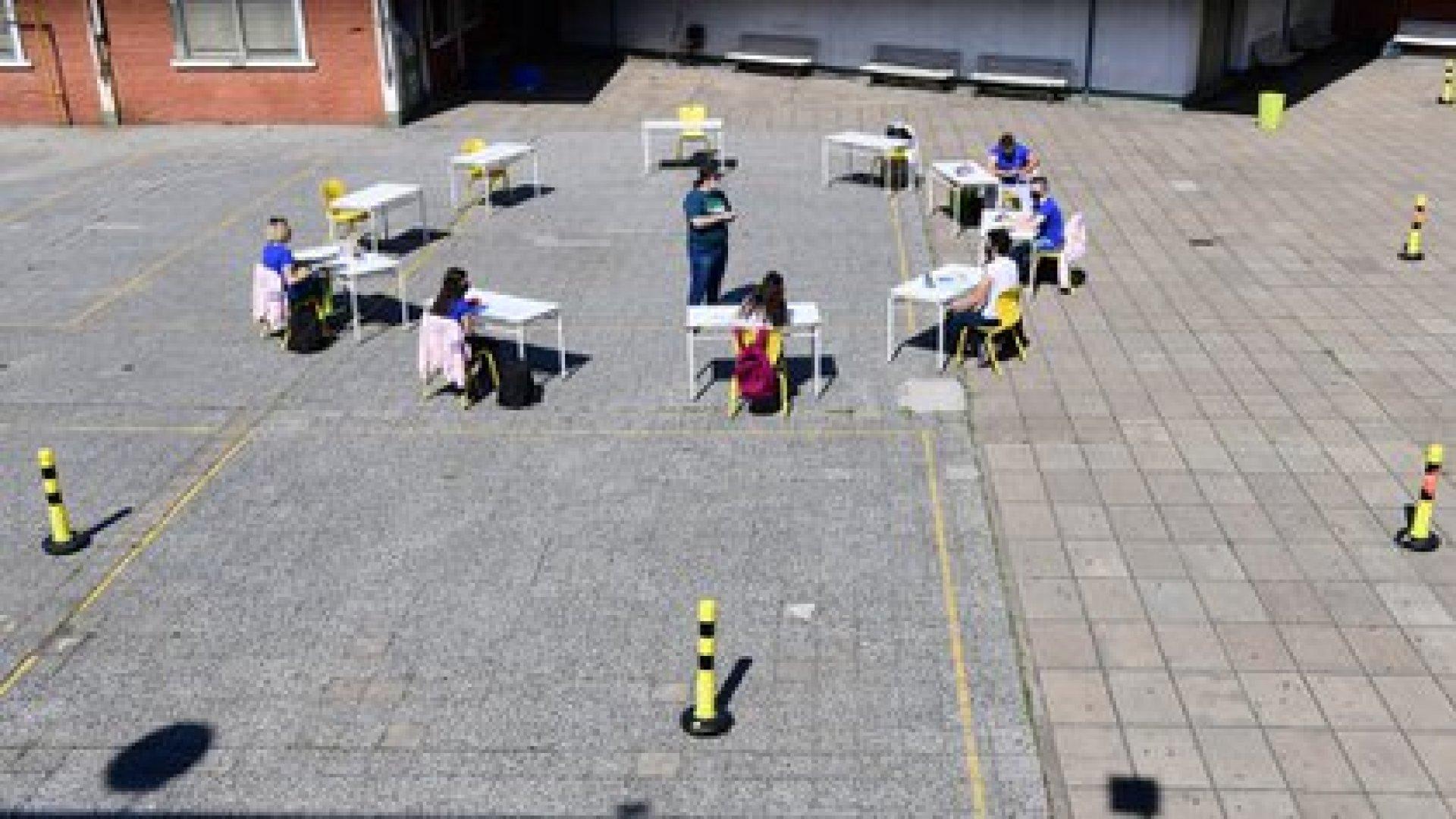 El Gobierno decidió suspender las clases presenciales durante dos semanas y retornar a la modalidad virtual (Maximiliano Luna)