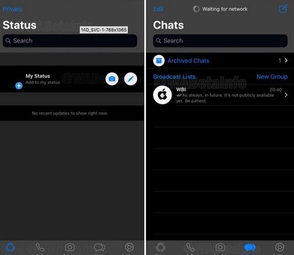 Ya podrás usar modo oscuro en WhatsApp (Foto: WABetainfo)