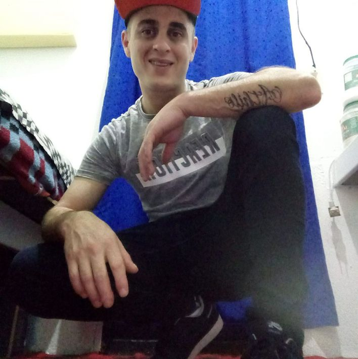 Mauro Nahuel Novelino, foto en la cárcel de sus redes sociales.