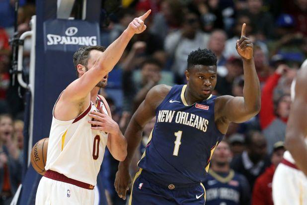 Zion fue una de las figuras en el triunfo de los Pelicans ante los Cavaliers en la NBA (Chuck Cook-USA TODAY Sports)