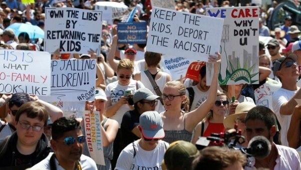 Manifestación frente a la Casa Blanca, en Washington, contra la política migratoria de Trump (REUTERS/Joshua Roberts)