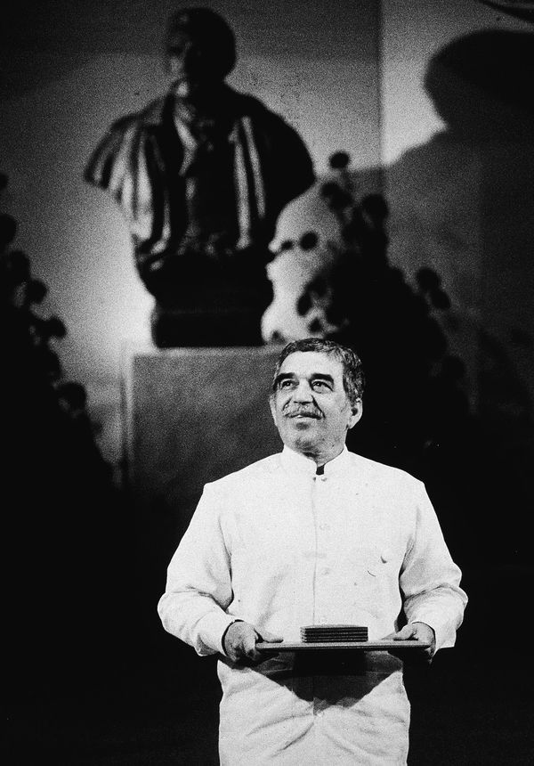 Gabo, cuando recibió el Nobel, en 1982 (Getty Images)
