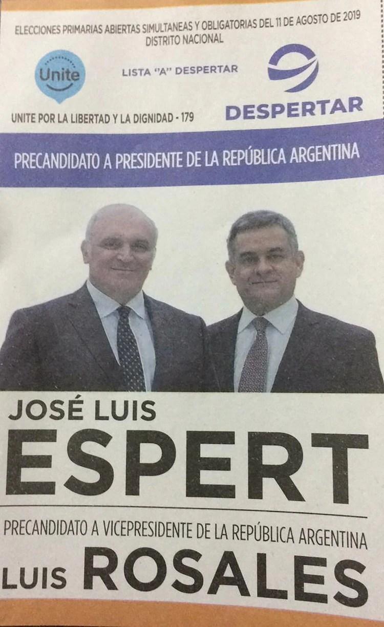 José Luis Espert y Luis Rosales – Unite/Frente Despertar