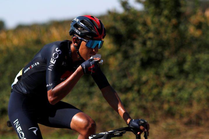 Egan Bernal, líder del Team Ineos Grenadiers en el Giro de Italia. REUTERS/Stephane Mahe/File Photo