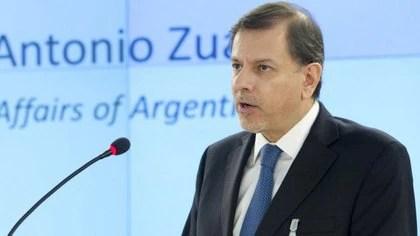Zuain fue vicecanciller y secretario de Relaciones Exteriores por iniciativa y decisión de CFK a partir del 10 de diciembre de 2011