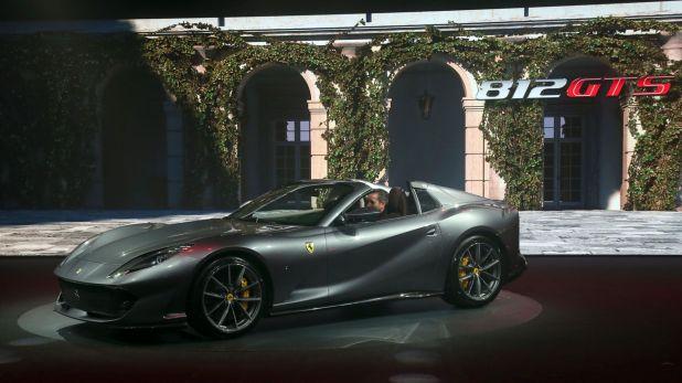 La presentación del 812 GTS realizada en Maranello, la casa de Ferrari
