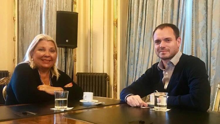 Fernando Sánchez y Elisa Carrió (Twitter: @elisacarrio)