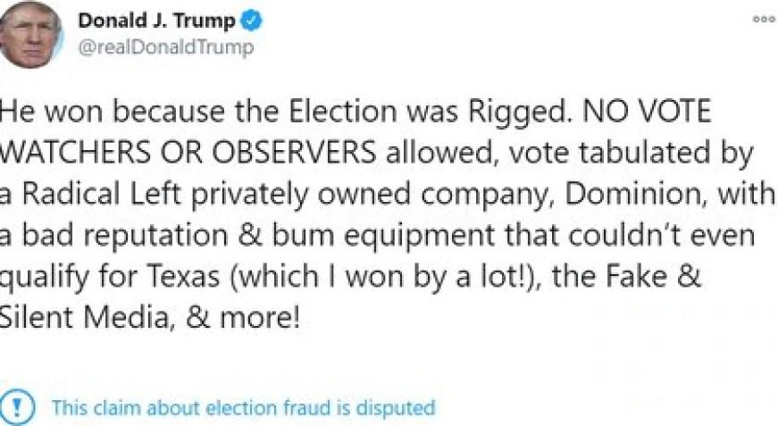 (Twitter Donald Trump/@realDonaldTrump)