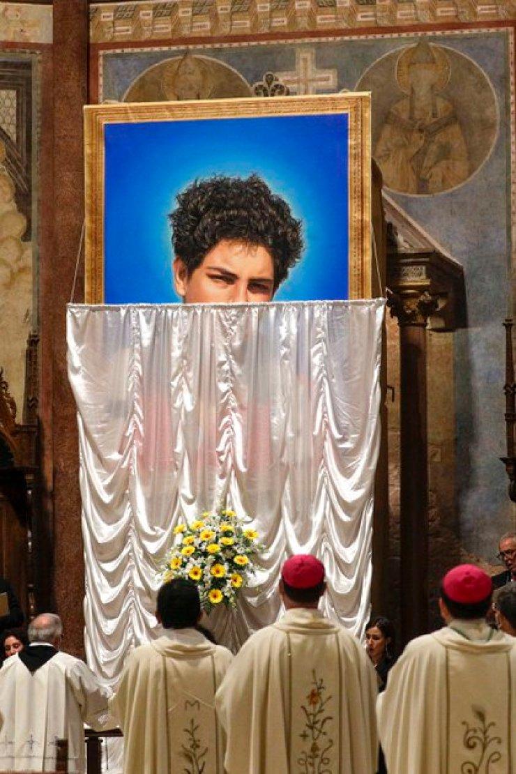 La beatificación de Carlo Acutis (AP Photo/Gregorio Borgia)
