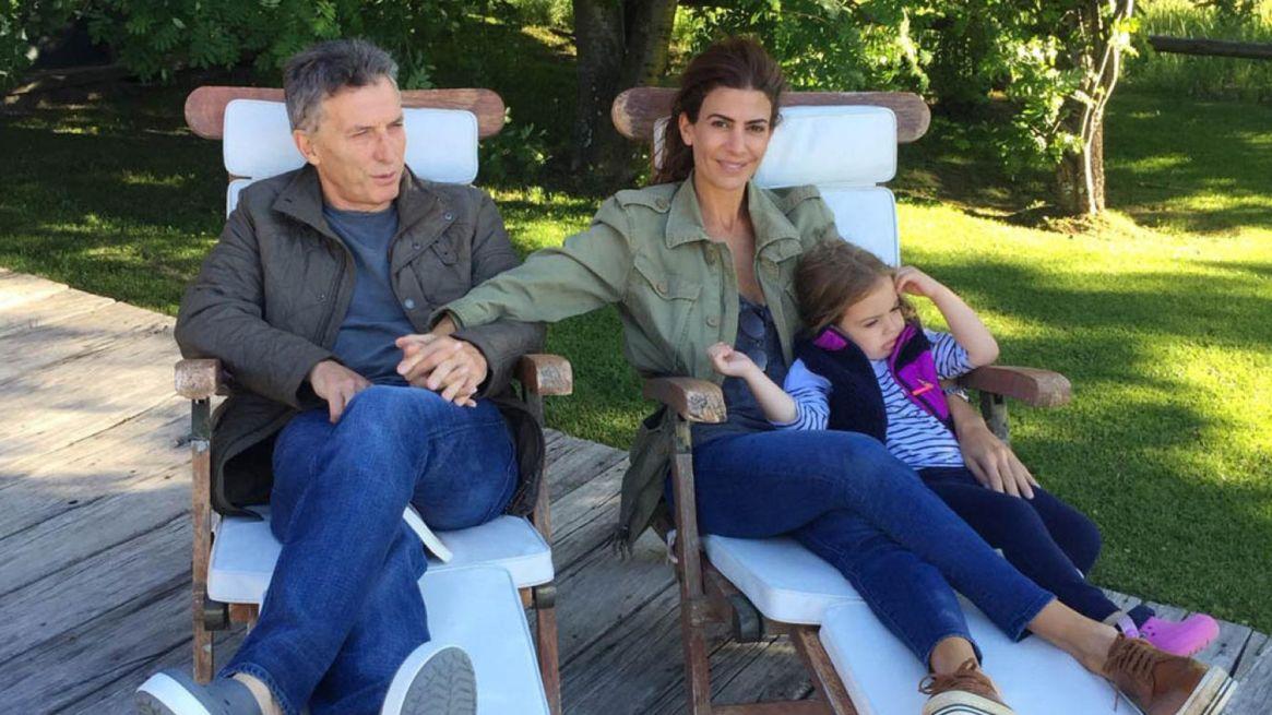 Macri, Awada y Antonia, la familia presidencial pasara el fin de semana juntos antes de votar en Barrio Parque