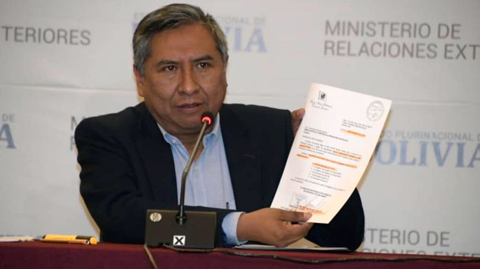Conferencia de prensa del Canciller de Bolivia