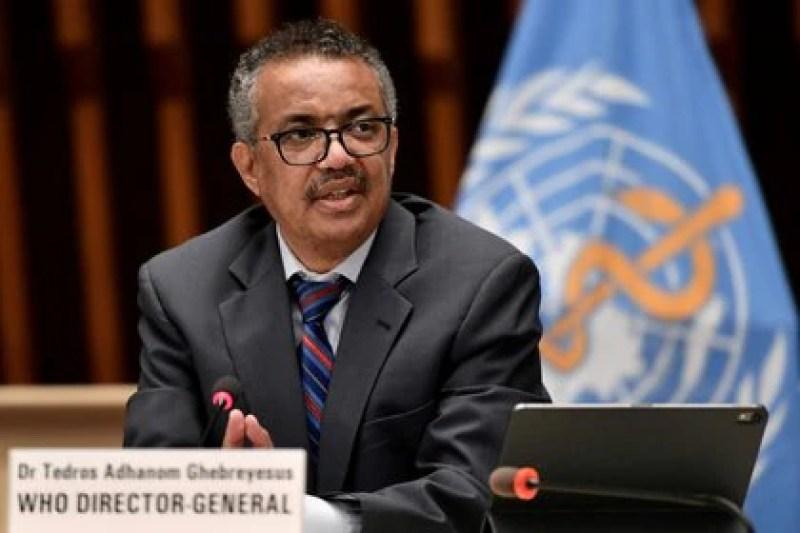 File photo of the Director General of the World Health Organization, Tedros Adhanom Ghebreyesus, at a press conference in Geneva.  Jul 3, 2020. Fabrice Coffrini / Pool via REUTERS