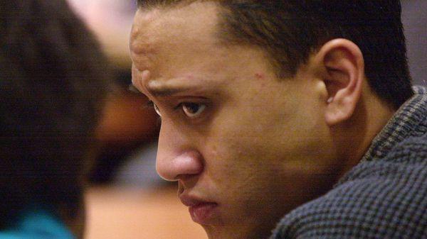 Vili Fualaau durante una audiencia en 2006 cuando fue sentenciado por conducir ebrio (AP)