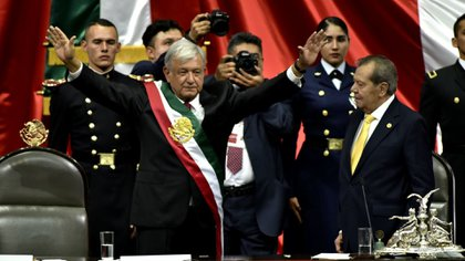 This December 1st Andrés Manuel López Obrador celebrates two years of wearing the presidential sash of Mexico (Photo: Cuartoscuro)