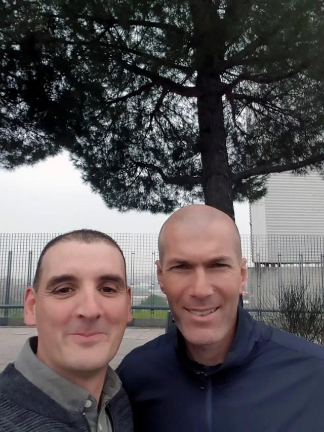 La selfie de Ignacio Fernández con Zinedinde Zidane