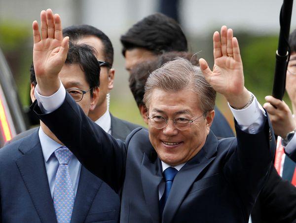 El presidente de Corea del Sur, Moon Jae-in Moon enSeúl, Corea del Sur el 10 de mayo de 2017 (Reuters)