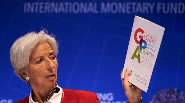 Christine Lagarde en la conferencia de prensa de ayer (REUTERS/James Lawler Duggan)