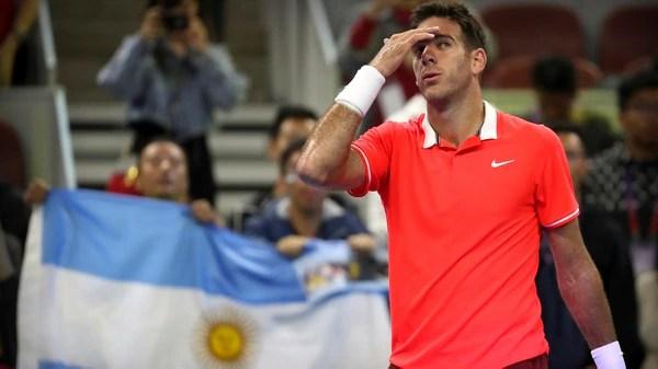 Juan Martín del Potro va en busca de los cuartos de final del Masters 1000 de Shanghai (AP)
