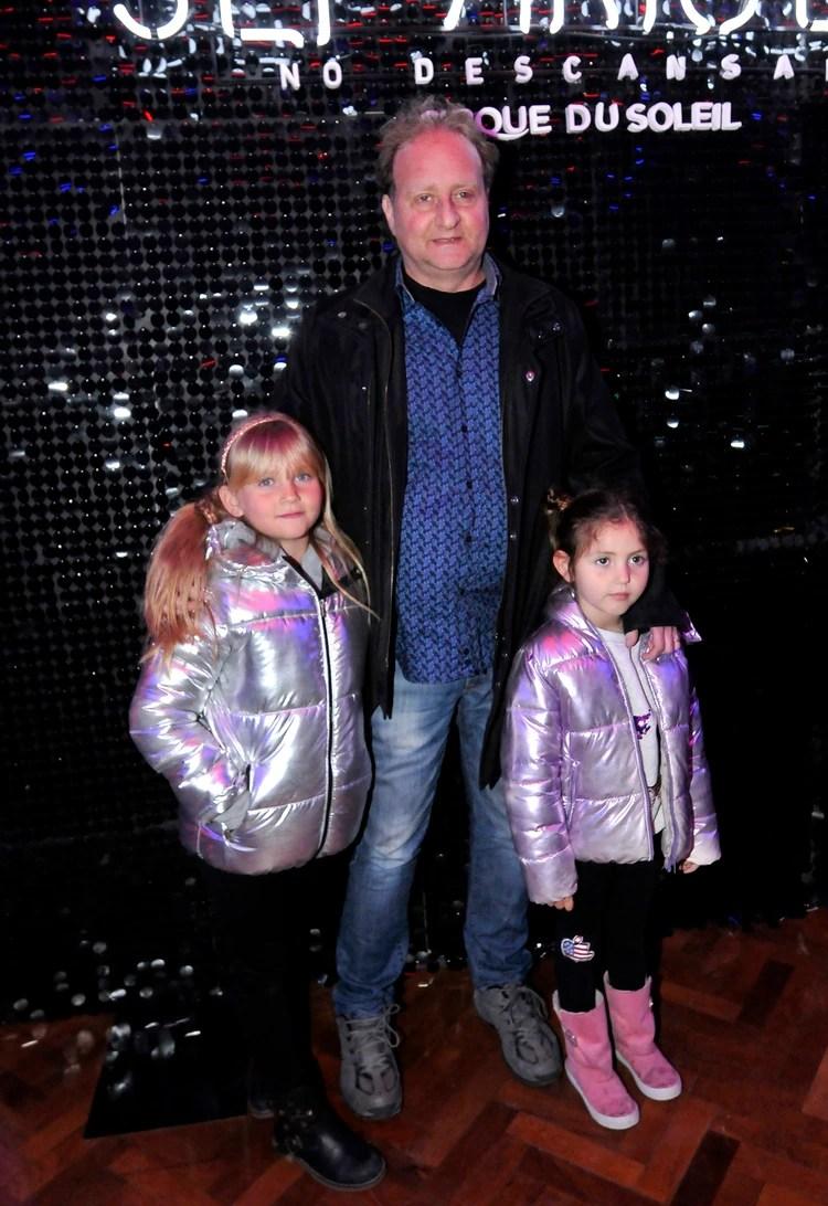 Sergio Gendler con dos de sus hijas menores (Vero Guerman / Teleshow)