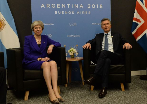 May y Macri, durante el encuentro que tuvieron en Costa Salguero. (Presidencia)