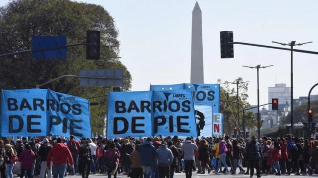 Las organizaciones sociales en el centro porteño en la previa del debate por la Emergencia Alimentaria (Foto: Adrián Escandar)