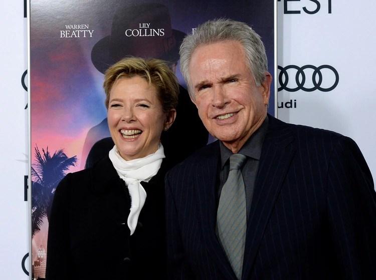 Warren Beatty y Annette Bening están juntos desde los años 90 (REUTERS)