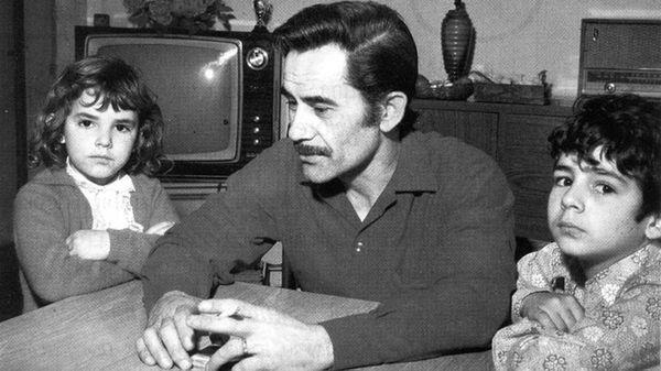 José Ignacio Rucci junto a sus hijos. El secretario general de la CGT, un hombre clave en el dispositivo de conducción de Perón, fue asesinado por Montoneros el 25 de septiembre de 1973