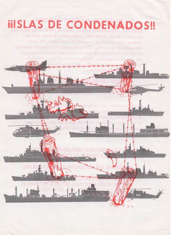 Uno 12.000 panfletos de la guerra psicológica lanzados en Malvinas