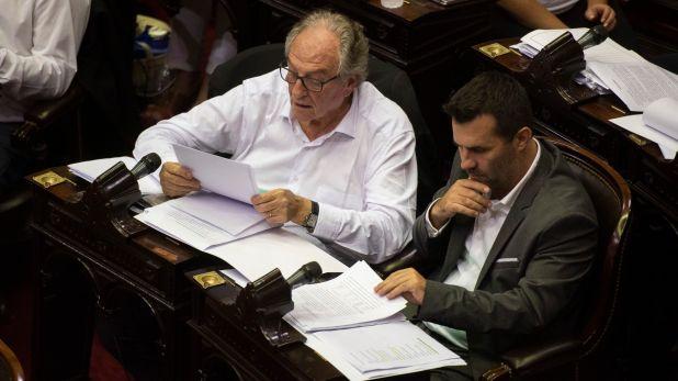 Los diputados Carlos Heller y Darío Martínez (Adrián Escandar)