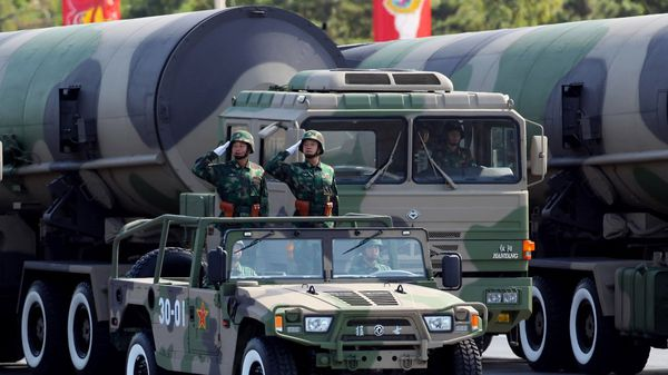 La estimación del incremento del presupuesto de Defensa fue realizada por Fu Ying, vocera de la Asamblea Nacional Popular china (Getty Images)