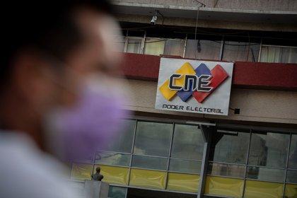 Vista de la sede principal de Consejo Nacional Electoral (CNE), en Caracas (Venezuela) (EFE)