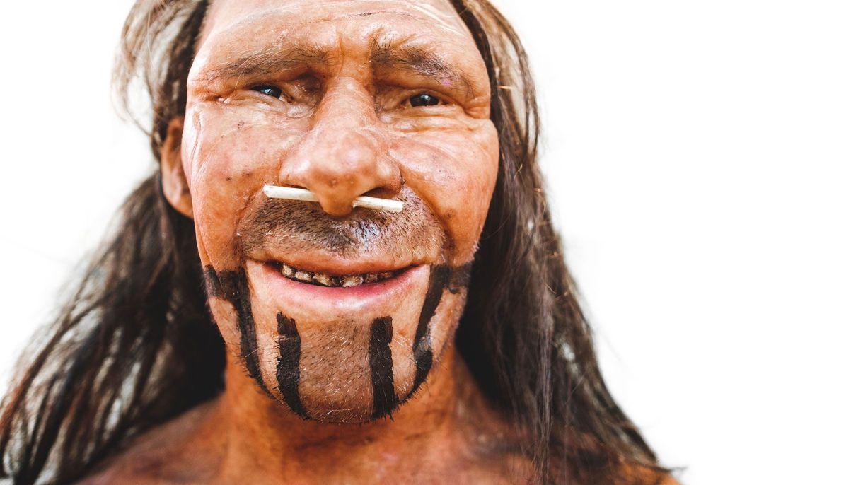 Recreación realista del un neandertal en el Museo de Historia Natural de Trento, Italia. (Foto: Shutterstock)