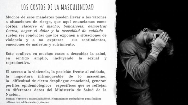 Parte del contenido de la unidad sobre masculinidades