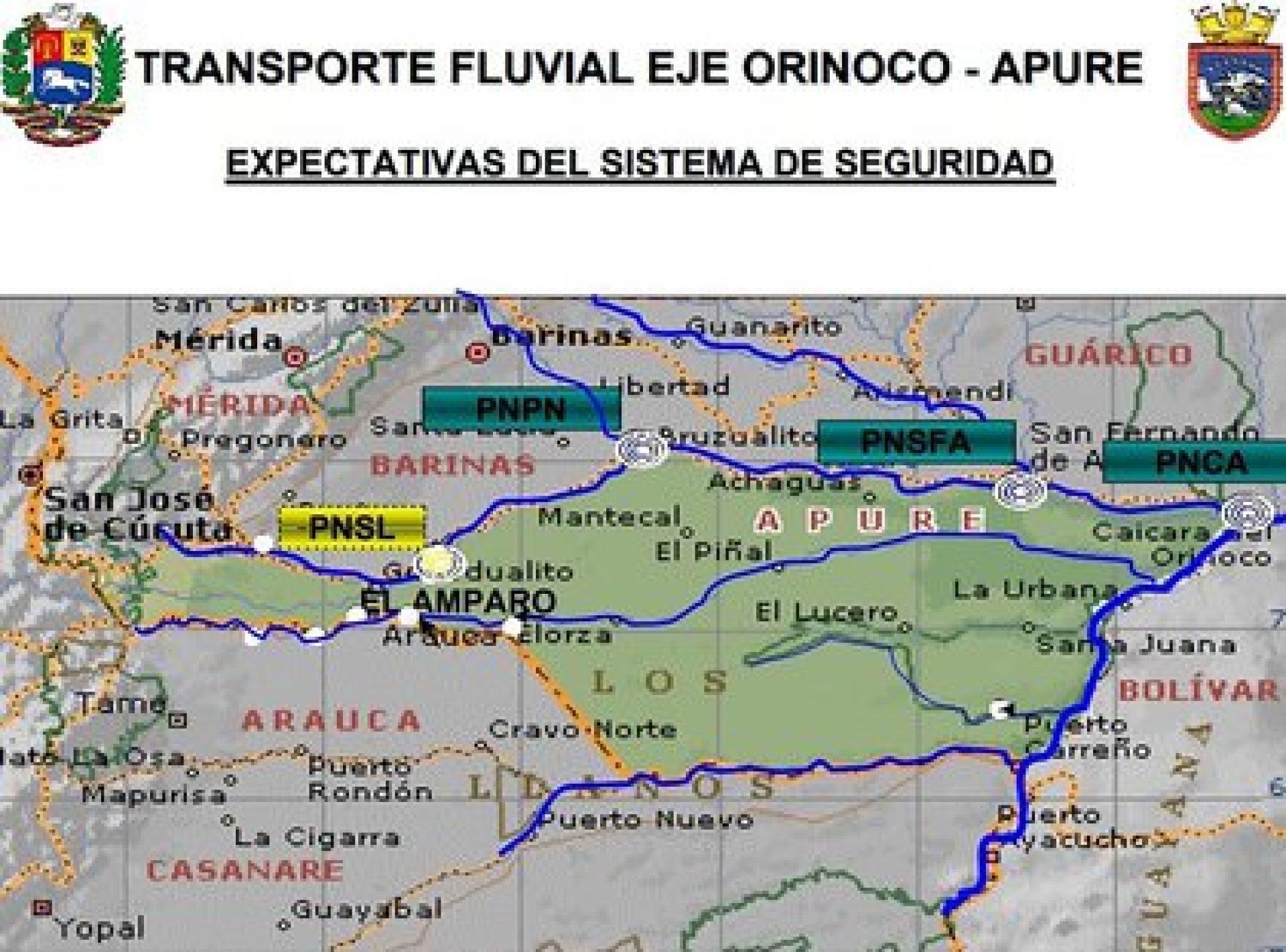 Sistema de Seguridad Transporte Fluvial Orinoco Apure. Lámina de Carlos Castellanos