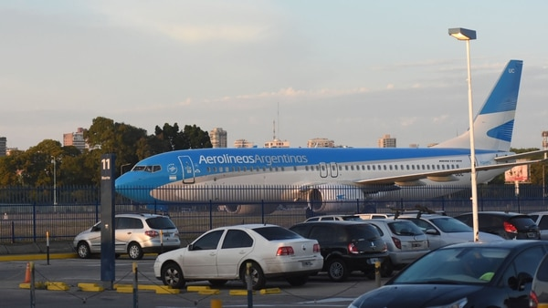 El avión de Aerolíneas Argentinas que traslado a Carlos Zannini