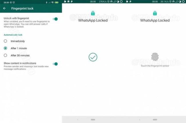 El bloqueo por medio de la huella dactilar es una de las nuevas herramientas que llegaron a WhatsApp este año (Foto: WABetaInfo)