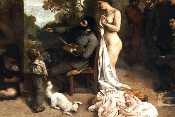 El taller del pintor, Gustave Courbet, 1855, musée d'Orsay, Paris.