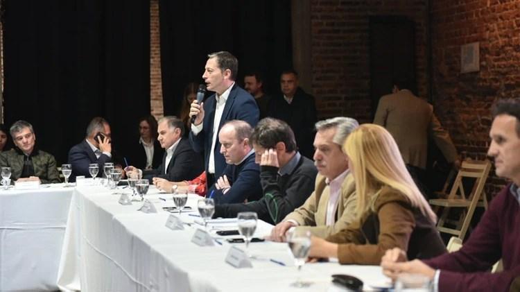 El encuentro de intendentes estuvo encabezado por Alberto Fernández