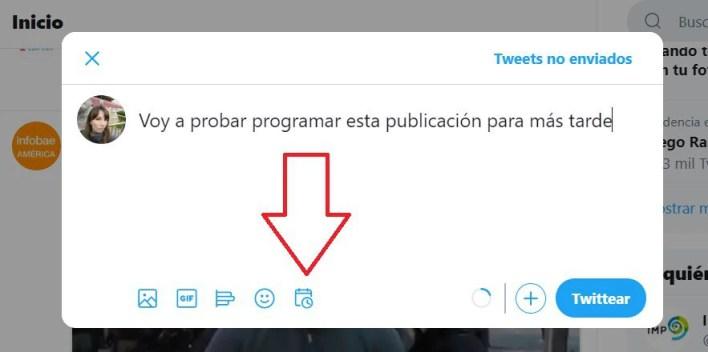 Programar tuits en Twitter