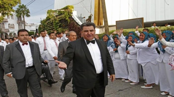 Naason Joaquin García, apóstol de la iglesia de La Luz del Mundo (Foto: Cuartoscuro)