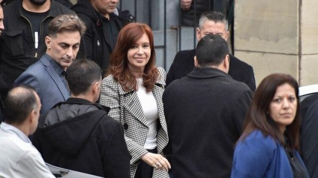 Cristina Kirchner en Comodoro Py (Adrián Escandar)