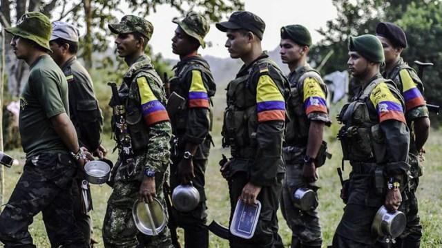 Miembros de la desaparecida guerrilla de las Farc.(AFP)