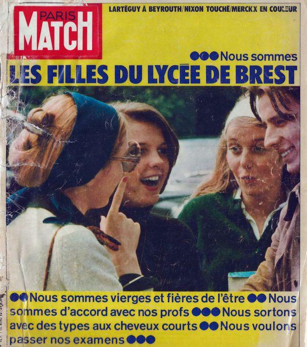 La edición de París Match que publicó la entrevista de Serra, el único argentino que escribió en la célebre revista francesa