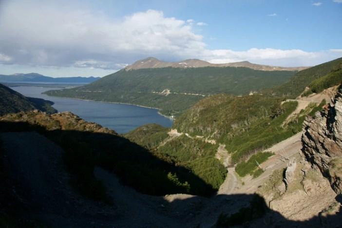 Una bella postal de Tierra del Fuego, zona de riesgo de tsunamis.